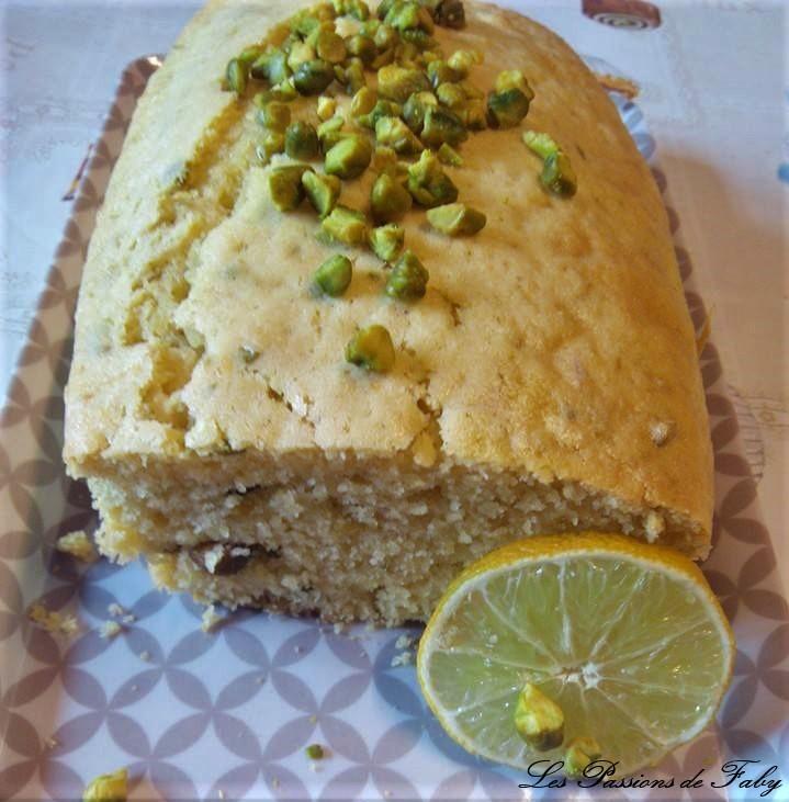Cake Citron 🍋 Pistache les-passions-de-faby.com