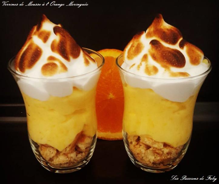 Verrines de Mousse à l'Orange 🍊Meringuée les-passions-de-faby.com