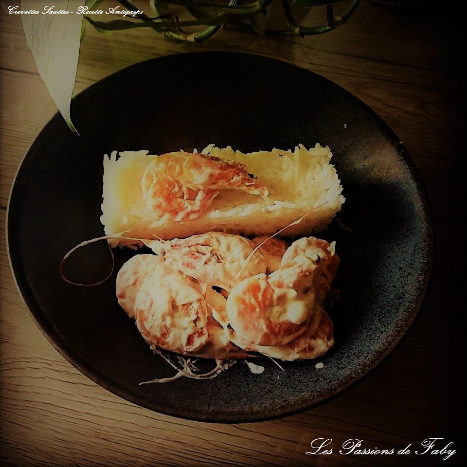 Crevettes 🦐Sautées - Recette Anti-Gaspi les-passions-de-faby.com