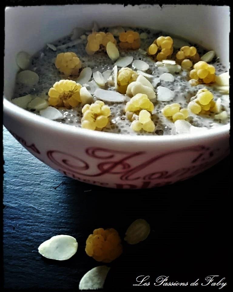 Pudding de Chia & Framboises Jaunes les-passions-de-faby.com