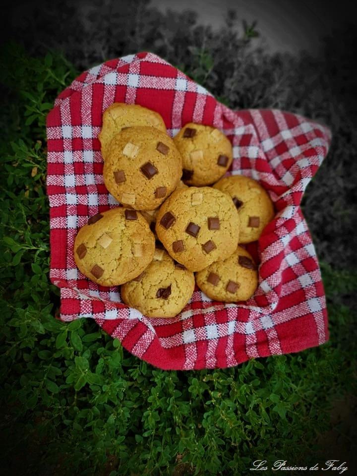 Cookies 🍪Chunky au Beurre de Cacahuètes 🥜 Crunchy les-passions-de-faby.com